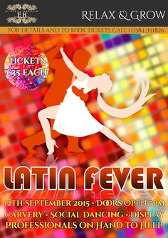 Latin Fever 2015 12th September NEW DATE tickets now available from £35