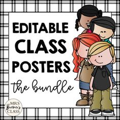 100 EDITABLE Class Posters / Charts featuring Melonheadz Kidlettes Classroom Signs, Classroom Posters, Class Rules Poster, Back To School Pictures, Shape Posters, Back To School Activities, Binder Covers, Classroom Organization, Charts