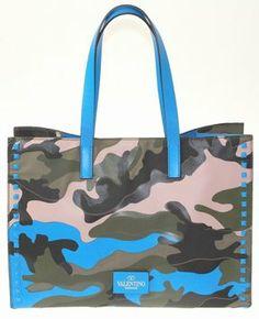 Valentino Garavani Camouflage Multicolor Tote Bag $3,060