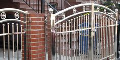KKM Ironworks are the NYC's premier cellar door & fire escape manufacturers provide services in all areas of NYC. Fence Gate Design, Steel Gate Design, Main Gate Design, Iron Gates, Iron Doors, Electric Driveway Gates, Stainless Steel Railing, Window Grill Design, Steel Fabrication