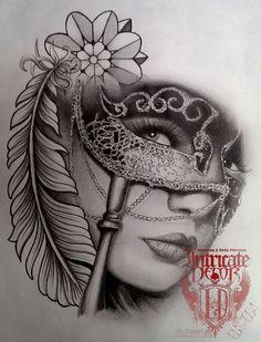 Resultado de imagen para 2 face mask tattoo
