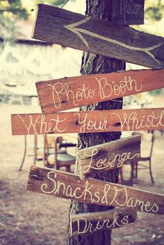 Rustic Wedding Signs.... LOVE