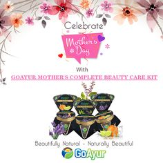 Haven't bought your Mother's Day gifts yet?? Give your mother the gift of beautiful skin with Natural Complete Beauty Care Kit @ GoAyur.com She will be delighted with it and will love it!  Healthy gifts for Mom! #BuyNow #Mothersday2017 #MothersDay #Mothersdaygifts #NaturalSkincare #Beauty #AntiAging #Skincare #ParabenFree #VeganCosmetics #GlutenFree #motherslove #GiftsForMom #GiftsForHer #BeautifulSkin #Naturalcosmetics #NaturalSkincareProducts #SkinBrightening #Face