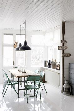 Industrial decor style is perfect for any interior. An industrial dinning room is always a good idea. See more excellent decor tips www.pinterest.com/vintageinstyle