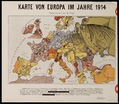 Europe Map in 1914
