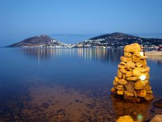Leros by night, Greece