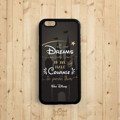 Dream Quote iPhone Case Walt Disney Quote on by SugarloafGraphics