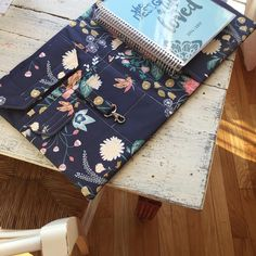 Notebook cover made by @sewspire featuring Nectar fabric by Hawthorne Threads