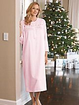 Women's Brushed-Back Satin Nightgown | Norm Thompson - for mom    $59.95