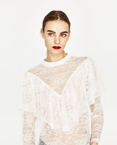 FRILLED LACE BLOUSE-Blouses-TOPS-WOMAN | ZARA United States