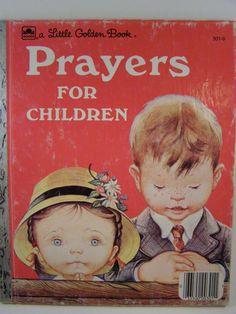 Prayers for Children:  vintage Little Golden Book