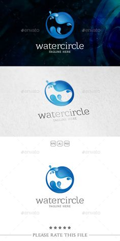 Water - Logo Design Template Vector #logotype Download it here: http://graphicriver.net/item/water-logo/10733909?s_rank=1147?ref=nesto