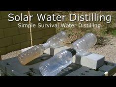 Simple Solar Water Distilling - Easy DIY (video)   reThinkSurvival.com