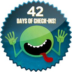 Congrats on liking or checking-in to an item for 42 days in a row!