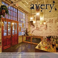 Inside our retail space at sundown on St. Joseph St. in New Orleans.