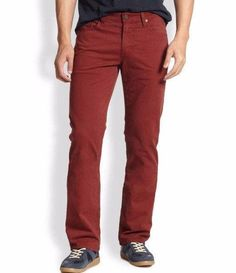Ag Adriano Goldschmied Men's 'Protege' SUD Straight Leg Red Pants 31x34 NWT $185 #AGAdrianoGoldschmied…