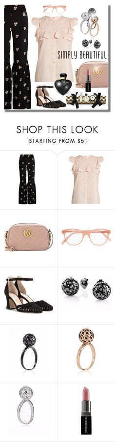 """""""Simply Irresistible"""" by jacque-reid ❤ liked on Polyvore featuring Vilshenko, Gucci, Cutler and Gross, Valentino, Sonal Bhaskaran and Smashbox"""