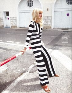 Grazia.fr | Spring Summer 15 | Stripe Jumpsuit | Styling ‪Marine Chaumien‬ | Photography ‪Peter Gehrke‬