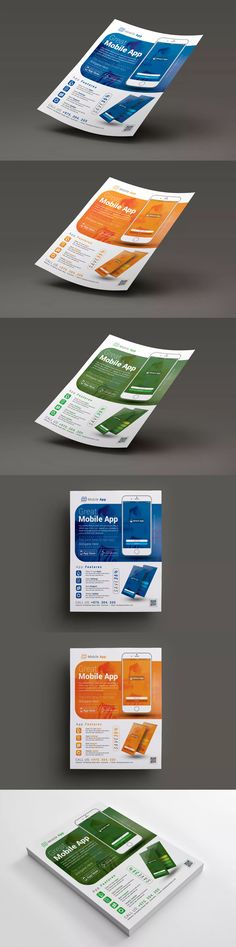 Mobile App Promotion Flyer Template PSD -  A4 & US Letter Size