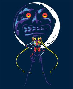 Not the same as sailor moon cosplay I did this pic up some time ago as a fun mash up and some practice using vectors. Seeing as Majora's Mask has been announced as a remake on the 3DS, it's seems like a nice time to put this up. IN THE NAME OF THE MOON!!!