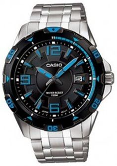 Casio Men's MTD1065D-1AV Silver Stainless-Steel Quartz Watch with Black Dial Casio. $50.44. Quartz Movement. 46mm Case Diameter. Mineral Crystal. 100 Meters / 330 Feet / 10 ATM Water Resistant