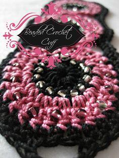 Beaded Crochet Cuff