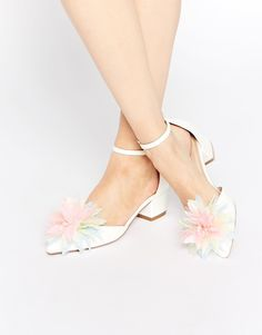Shop ASOS STAND OUT Heels. With a variety of delivery, payment and return options available, shopping with ASOS is easy and secure. Shop with ASOS today. Yellow Wedding Shoes, Wedding Flats, Jeweled Shoes, Bridesmaid Shoes, Formal Shoes, Bridal Shoes, Bridal Footwear, Shoes Online, Wedding Accessories