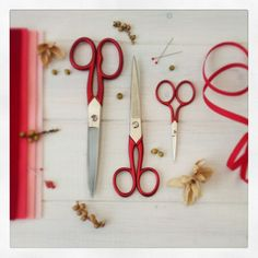 When buying these of Scarlet Scissors you save ✂ Tailor Scissors, Embroidery Tools, Craft Materials, How Beautiful, Scarlet, Wool Felt, Stitches, Crafty, Red