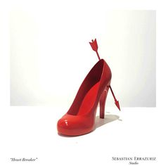 Sebastian Errazuriz's Art Shoe Collection Heart Breaker