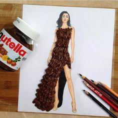 Desenho de Nutella