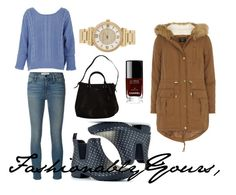 Have some fun with shades of blue this #Tuesday.  Obviously you have your pair of blue jeans but adding a rich perriwinkle sweater on top is light and fresh.  #Polka dots and navy are super cute on a ankle rain boot!  A break in blue comes in the form of a camel colored parka and with red toned nails.