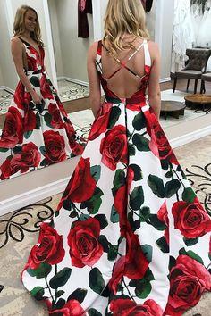 Party Dress V-neck, Prom Dresses Long, A-Line Party Dress, Long Party Dress, V Neck Party Dress #Prom #Dresses #Long #V #Neck #Party #Dress #Vneck #ALine, Prom Dresses Long