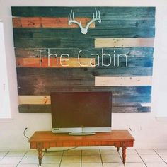 Woodwall on other side. Gotta have the cabin vibe..