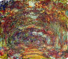 The Path Under the Rose Arches by Claude MonetCompleted 2 years before his death