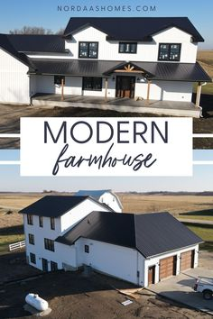 Beautiful two story modern farmhouse floor plan designed and built by Nordaas Homes, a full-service custom home builder in Minnesota. We have a variety of house plans--from single story, two story, small homes and more...all tried, tested