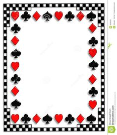 Playing Cards Border Poker Suits Casino Theme Parties Cards Casino Theme