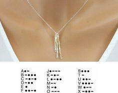 Morse code necklace Personalized & custom jewelry by LAminiJewelry