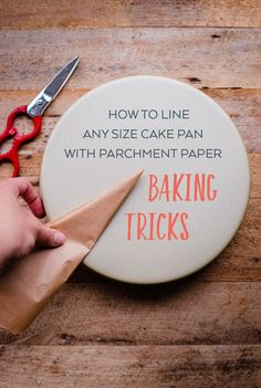 How to Line Any Size Cake Pan with Parchment Paper. My favorite time-saving trick for cake baking. This is the EASIEST method!