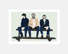 A hand and digitally drawn image of The Courteeners from Manchester (Bench print). Indie, Rock N Roll band. Fronted by Liam Fray. Created by Mike Moran. Printed on high quality 210 gsm silk, perfect for posters. The Courteeners, Liam Fray, Wigan Athletic, Pete Doherty, The Libertines, Rock N Roll, Art Inspo, Manchester, Indie