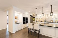 Hermitage Grande by McDonald Jones Homes at HomeWorld Thornton Home Decor Kitchen, House, Home, Mcdonald Jones Homes, Hamptons Kitchen, New Homes, Home Kitchens, Hermitage, Country House Design