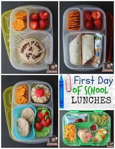 Everyone is back in school! Here are our 1st day of school lunches for Kindergarten through 7th grade!