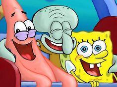 Patrick, Squidward and Spongebob Wallpaper from SpongeBoB Square Pants. Patrick, Squidward and Spongebob are having fun. Patrick Spongebob, Wie Zeichnet Man Spongebob, Funny Patrick, Spongebob Cartoon, Spongebob Drawings, Cartoon Tv, Cartoon Wallpaper Iphone, Cute Disney Wallpaper, Cute Wallpaper Backgrounds