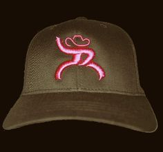 082571379ab Kids Cowboy Hats HOOey Roughy Brown With Pink Logo Kids Cowboy Hats