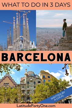 A local's guide on how to spend three days in Barcelona | 3 day Barcelona itinerary | 3 days in Barcelona | Barcelona 3 days #Barcelona #spain #europe #travel