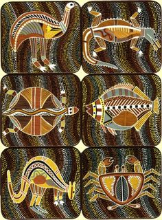 Idea: aboriginal art animals