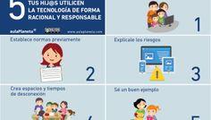 5 consejos para que tus hijos usen la tecnología de forma responsable #infografia #education