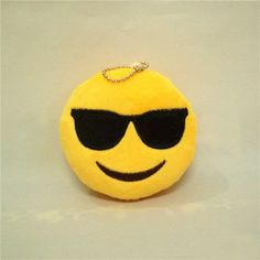 Sunglasses Emoji 😎 Plush Keychain