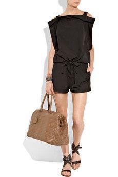 Bottega Veneta bag and playsuit, Chloé shoes