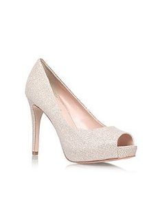 Lara high heel peep toe court shoes