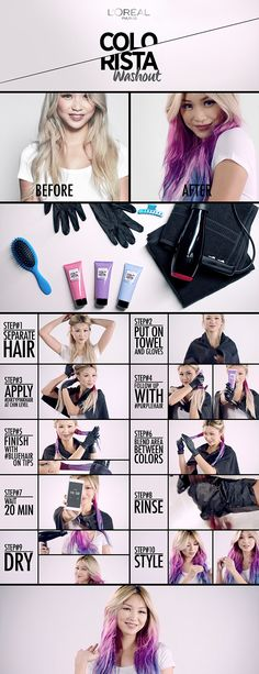 Idée Tendance Coupe & Coiffure Femme 2018 : 3 technologies 3 levels of commitment and 34 customisable shades to choose from Colorista Hair Dye, Dip Dye Hair, Rock Chick, Pastel Hair, Pastel Blue, Funky Hairstyles, Mermaid Hair, Rainbow Hair, Blue Hair